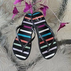 Shoes - Striped summer flip flops